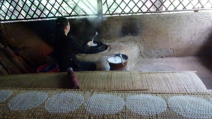 Cómo hacer pasta de arroz.Túneles de Cu Chi (Cerca de Ho Chi Minh).-Fotografía:Rebeca Pizarro
