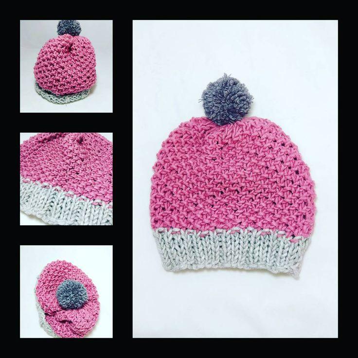 "(@nelly_gallo_) στο Instagram: ""#handmade #handed #knitting #knitwear #needles #cap #knitcap#yarns #wool 30 %#acrilyc 70 %#pompoms…"""
