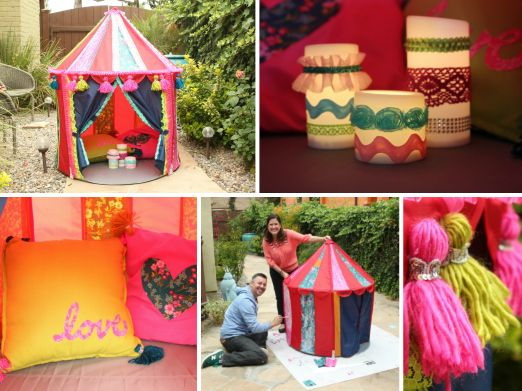 DIY Kids Backyard Fun: Fun Ikea Tent Hack with Cathie and Steve! #plaidcrafts