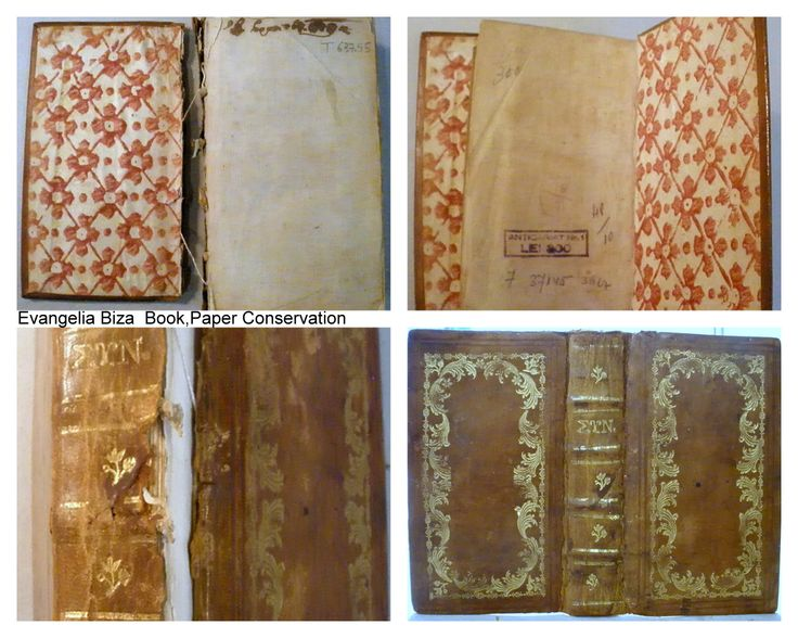 Conservation of leaher binding.  Rebacking.