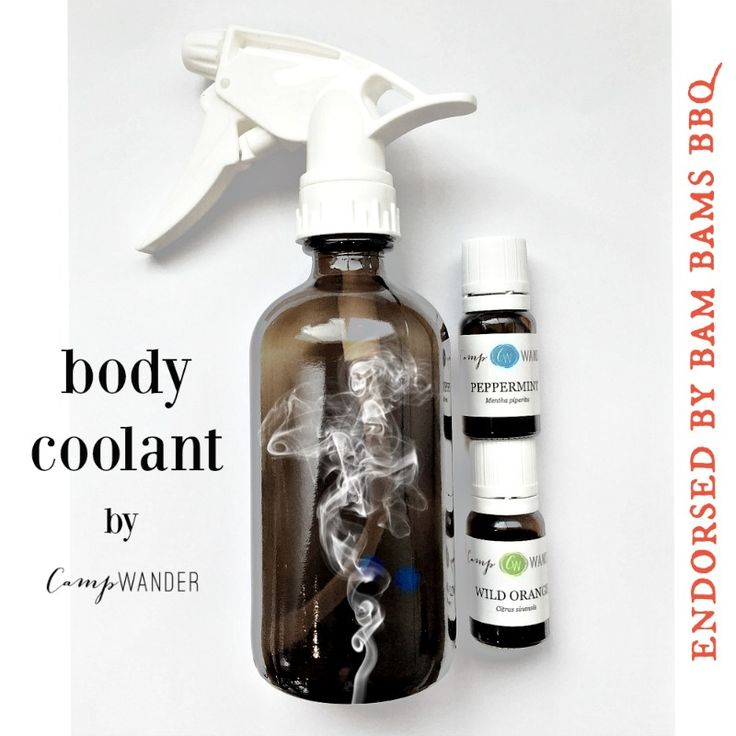 Hot Summer Body Coolant - the perfect gift for your hot (literally) backyard BBQ chef this Father's Day and your occasional hot flash *wink*