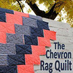 DIY Chevron Rag Quilt