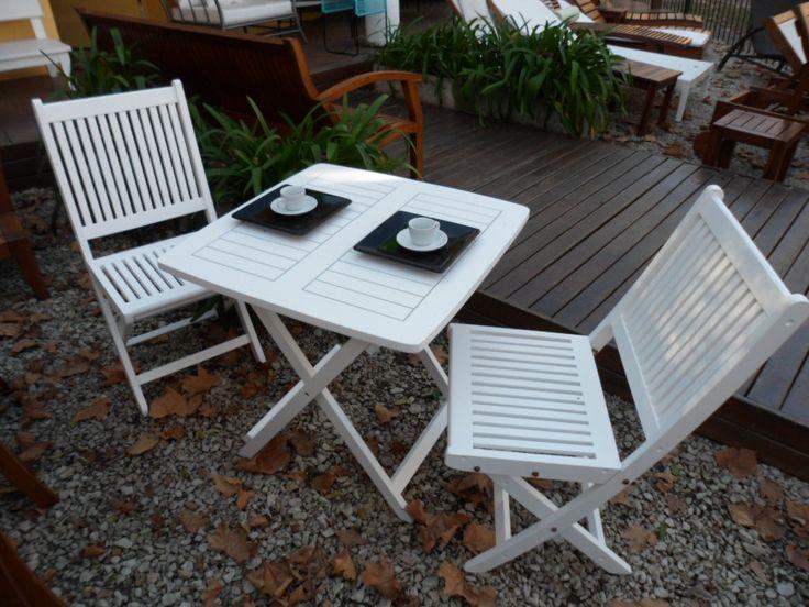 Lindísimo Juego de mesa plegable con Sillas Carri en blanco o en el color que quieras.