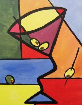 Cubist Martini *Paint Nite* Buy tickets at paintnite.com