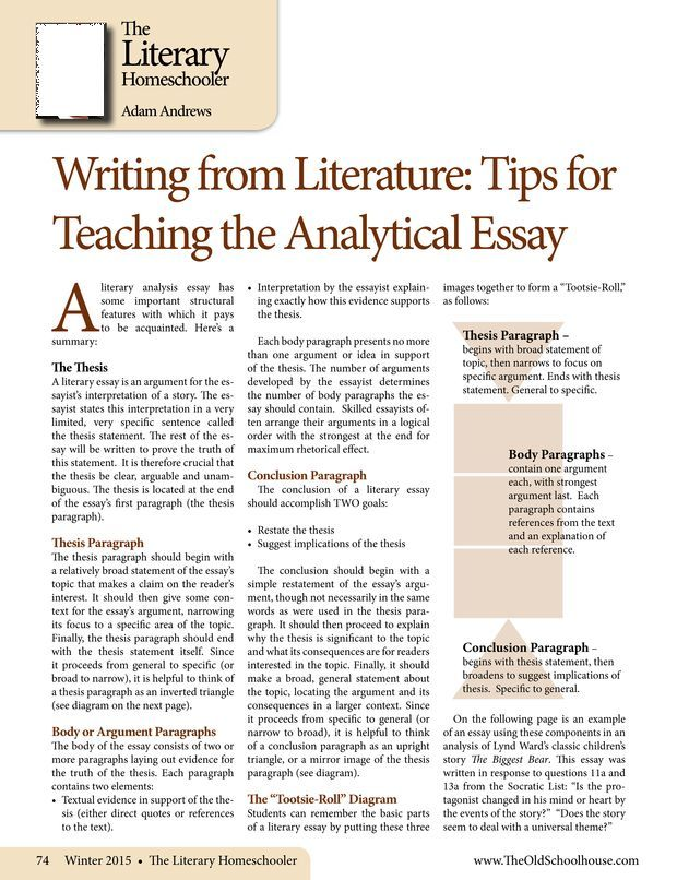 Tootsie Roll Technique For Writing A Literary Analysis Essay