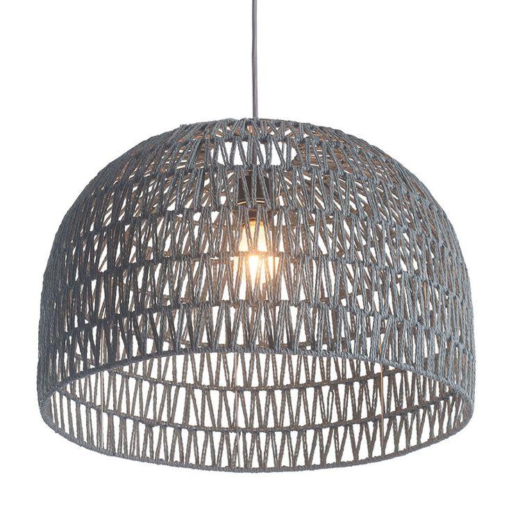 Half Dome Basket Pendant Light U2014 Woven Paper And Metal