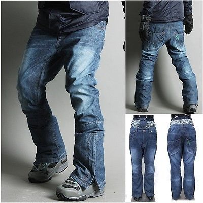 Mens Womens Winter Warm Waterproof hip Ski Snowboard Denim Pants JEANS jackets Z in Sporting Goods | eBay