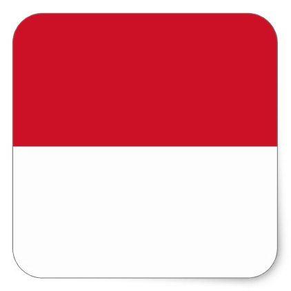 Indonesia Flag Square Sticker - sticker stickers custom unique cool diy