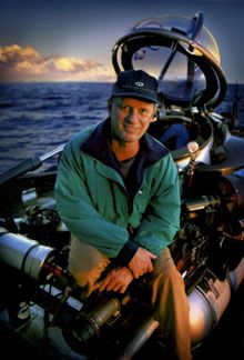 """Robert Ballard loves to search for sunken ships! from Wikipedia: """"He is most famous for the discoveries of the wrecks of the RMS Titanic in 1985, the battleship Bismarck in 1989, and the wreck of the aircraft carrier USS Yorktown in 1998. Most recently he discovered the wreck of John F. Kennedy's PT-109 in 2002"""""""