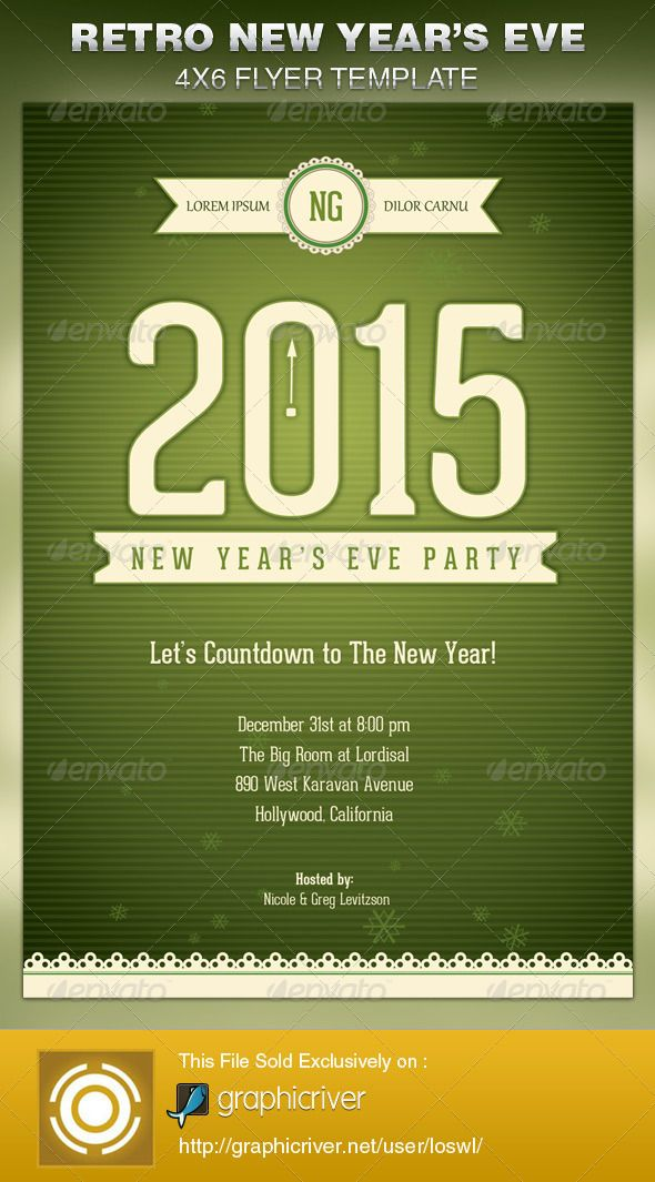 The Retro New Year's Eve Party Flyer Template is sold exclusively on graphicriver, it can be used for your Church Events, Sermons, Gospel Concert etc, or for any other marketing projects.