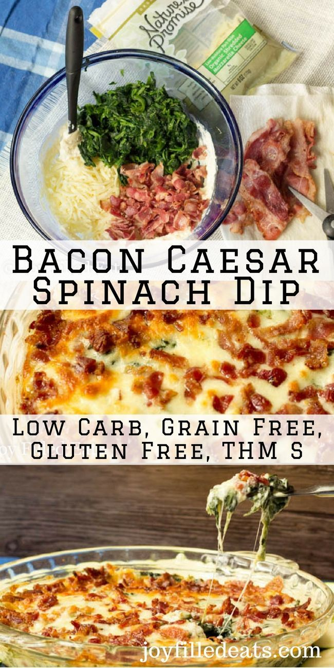This is the ultimate spinach dip! I've eaten spinach dip so very many times in my life but this Bacon Caesar Spinach Dip beats them all. Low Carb & THM S. via @Joy Filled Eats - Gluten & Sugar Free Recipes #betterforyou #StopandShop #ad