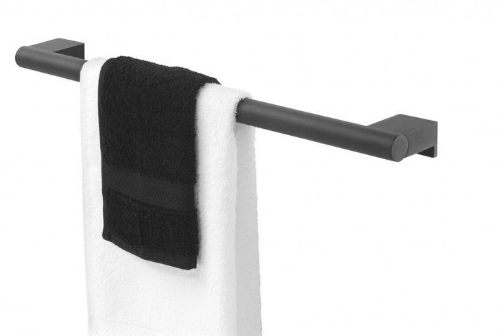 Tiger akcesoria Bold wieszak na ręcznik reling 60 cm czarny 2886.07