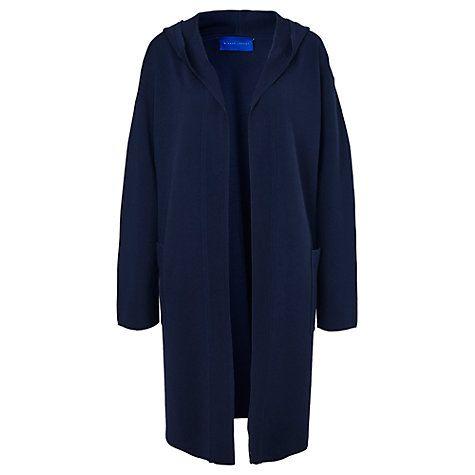 Buy Winser London Milano Cotton Hooded Coat, Midnight Navy Online at johnlewis.com