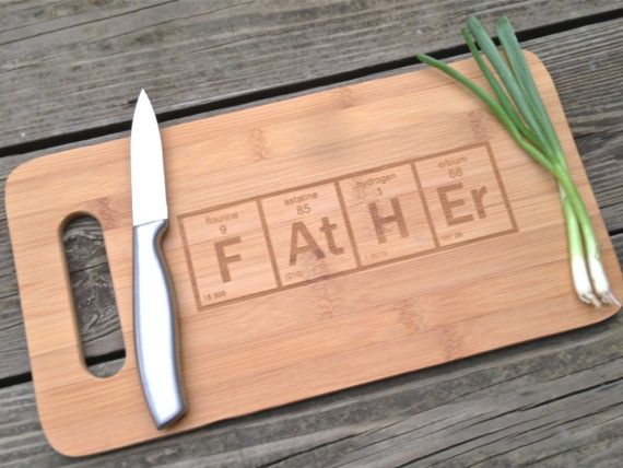 Father cutting board periodic element table cutting board engraved cutting board periodic - Periodic table chopping board ...