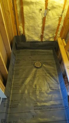 concrete shower pan vapor barrier sealing underlayment