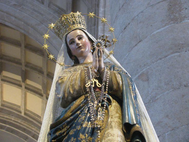 Our Lady of Yucatan, Patroness of Yucatan, Mexico. In cathedral at Merida, Yucatan. MADONNAS OF MEXICO.