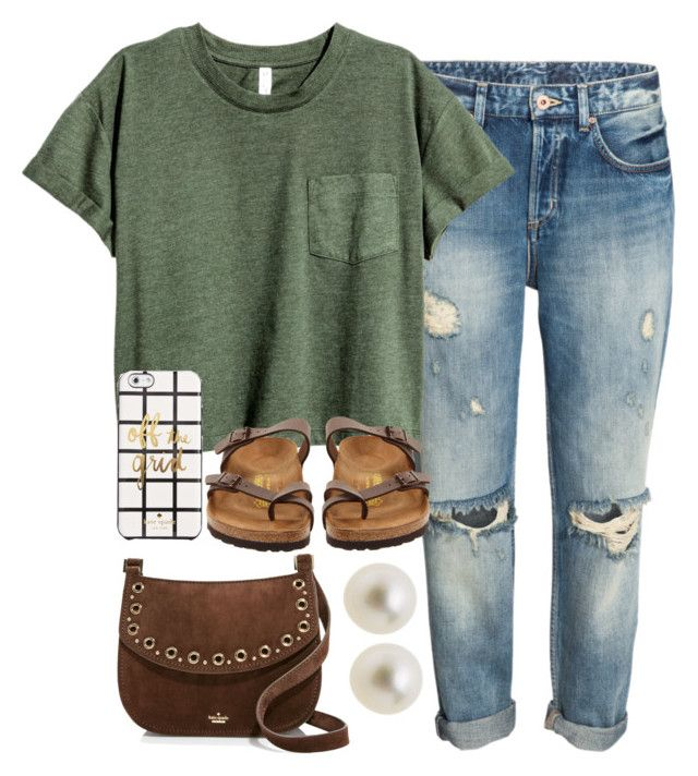 """""""off the grid"""" by legitimately-kierstin ❤ liked on Polyvore featuring Birkenstock, Kate Spade and J.Crew"""
