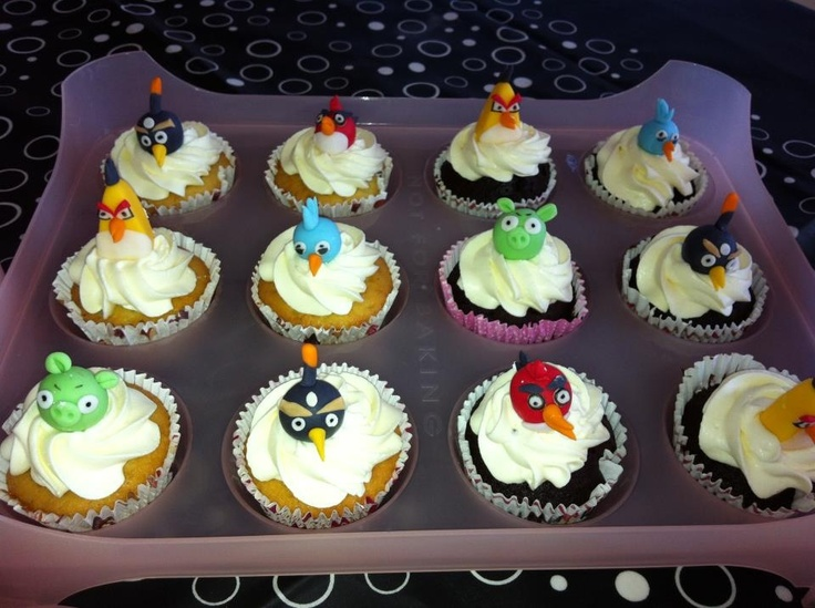Angry bird muffins