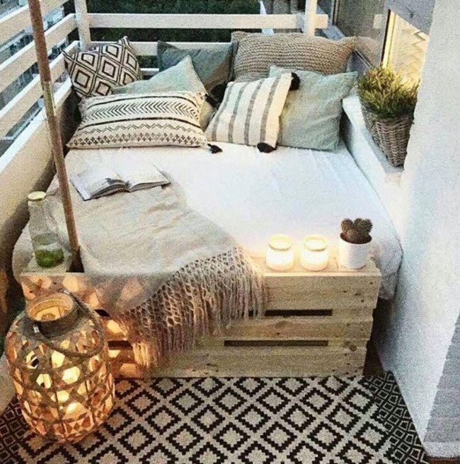Süße Idee für eine Lounge-Ecke