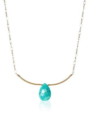 Eva Hanusova Turquoise Bar Necklace