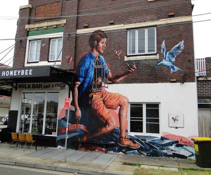 """"""" Ouvrez, ouvrez la cage aux oiseaux..."""" ( Pierre Perret ) / Street art. / By…"""
