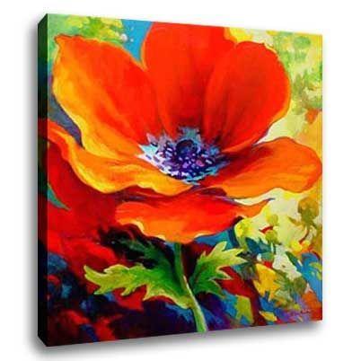 Easy canvas christmas painting ideas flower oil painting for Simple oil painting ideas