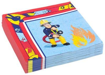 Tovaglioli Sam il Pompiere - Kit Festa