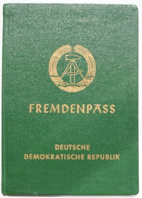 East Germany. Thomas would have a passport like this.