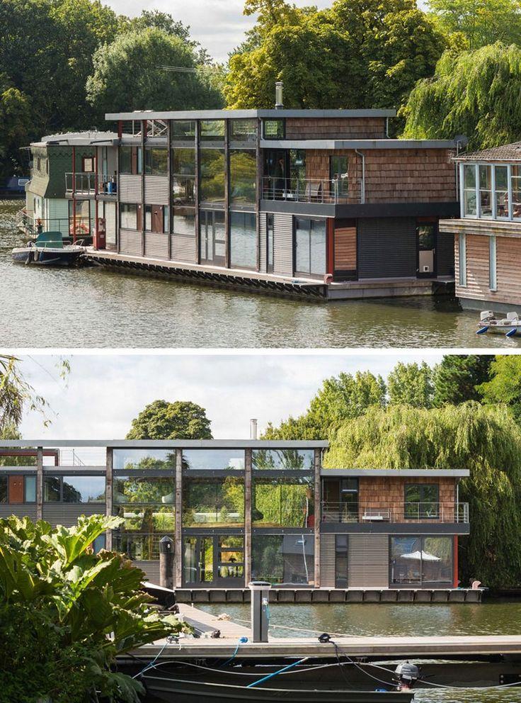 1175 best floating houses maisons flottantes images on for Maison flottante