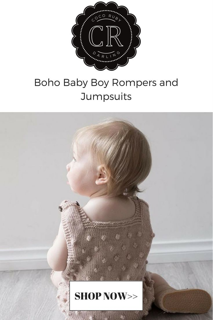 Boho Baby Knitted Romper – Coco Ruby Darling
