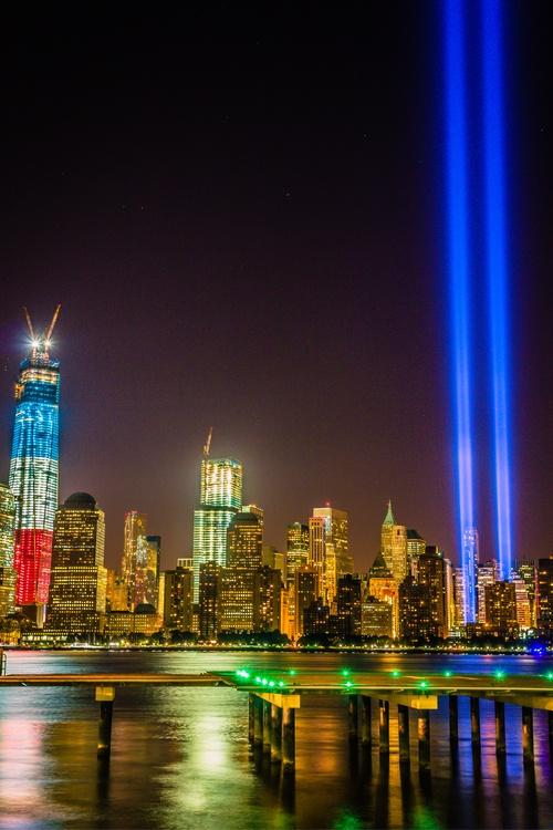 New York City Tribute In Light 911 Ground Zero Memorial
