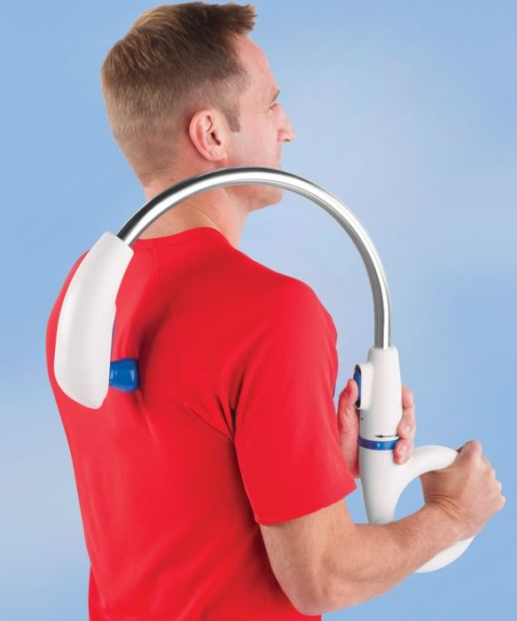 The Forever Alone Back Massager...I'm not alone, but my husband would be so happy to not have to do this anymore!!