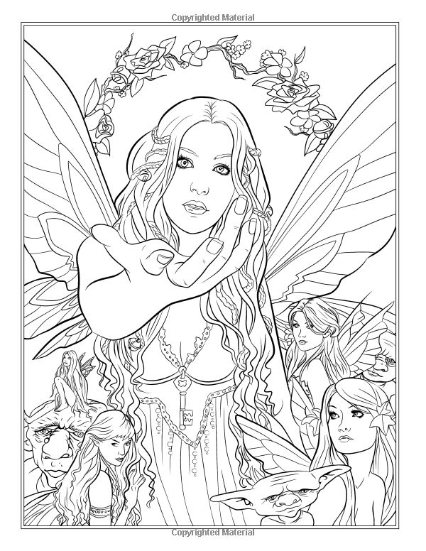 804 best Fantasy Coloring Pages for Adults images on