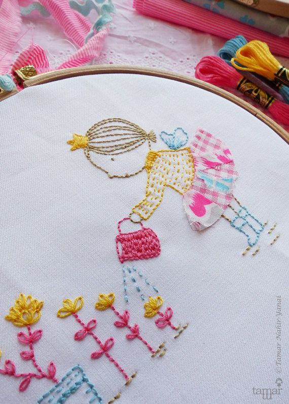 Embroidery Kit Hand embroidery  Happy little fairy