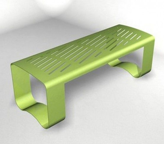 multifunctional double steel bench designs for two person WS 205