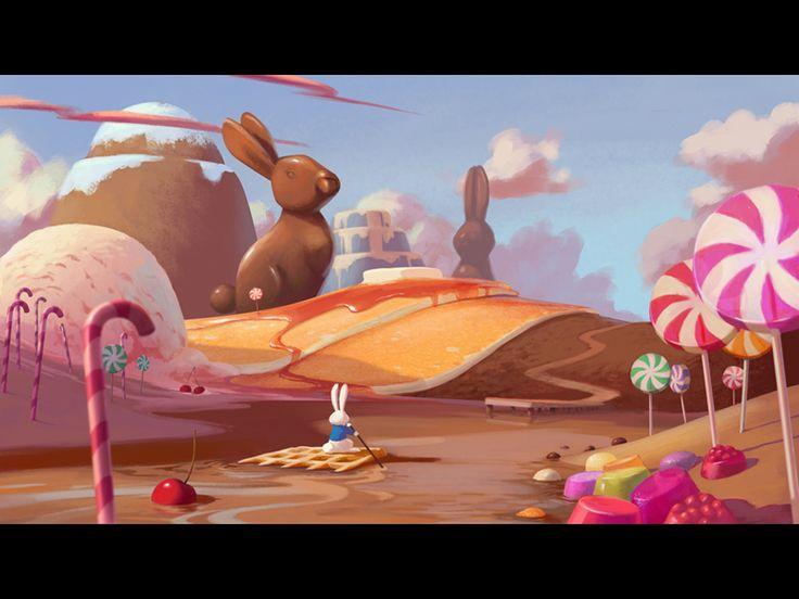 Candyland in 2019 | 2D environments | Art, Cartoon art ...