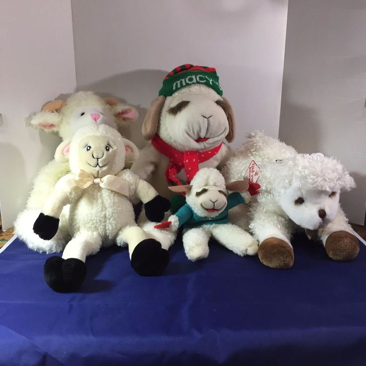 Lot of 5 Lamb Sheep Plush Lamb Chop Puppet Macys Sprinkles Dakin Lalla #Notspecified