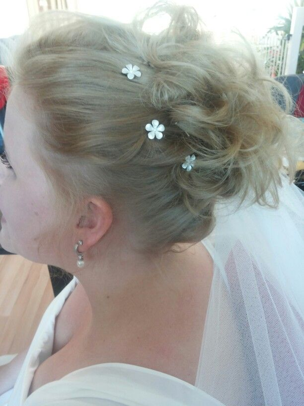 Bruidskapsel halflang/kort met sluier, door your day by dana