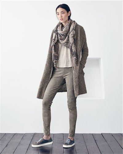 Product Image of Stretch suede trousers #MyPoetryFavourites and #PoetryFashion