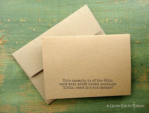 25 A2 Kraft Blank Cards and Envelopes: by GreenEarthSupplies