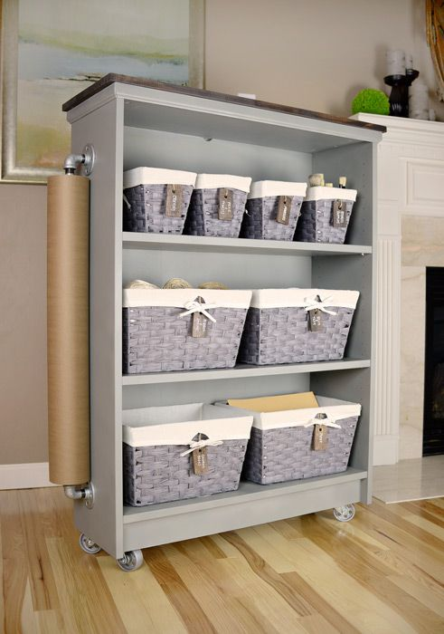 Billy bookcase to rolling craft cart