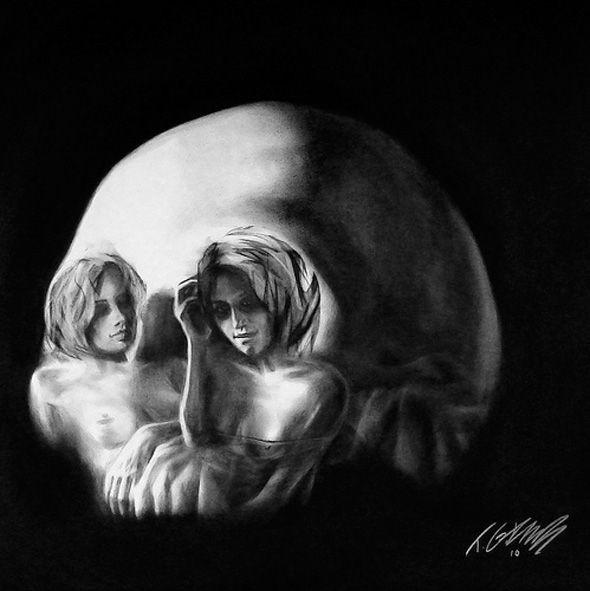 two ladies skull illusion