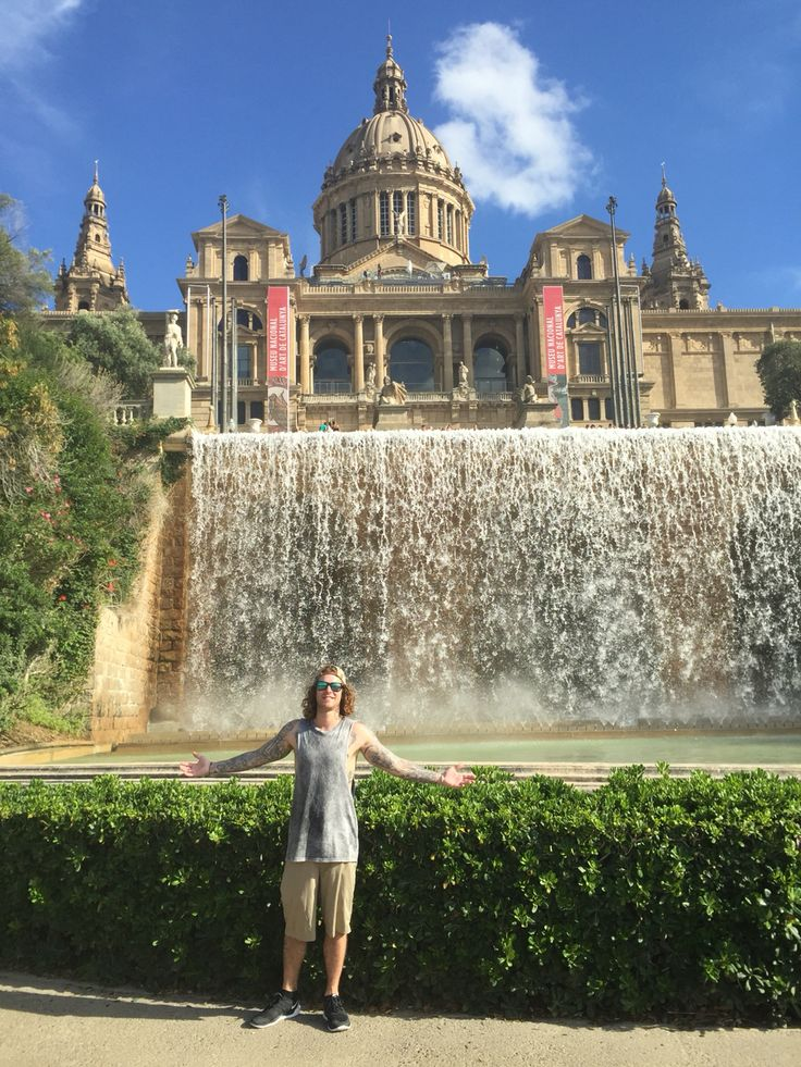 Being a real tourist in Barcelona!