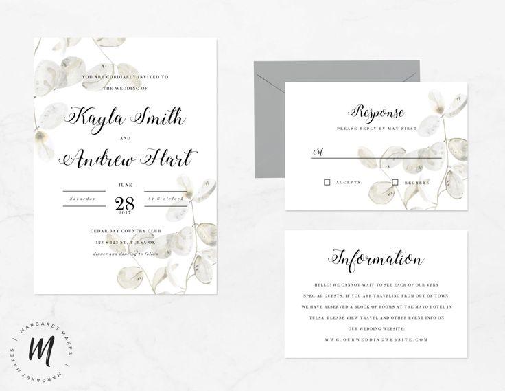 Modello di invito di nozze classico | Calligrafia tradizionale matrimonio invito Set | Download immediato | Inviti stampabili di ShopMargaretMakes su Etsy https://www.etsy.com/it/listing/479747055/modello-di-invito-di-nozze-classico