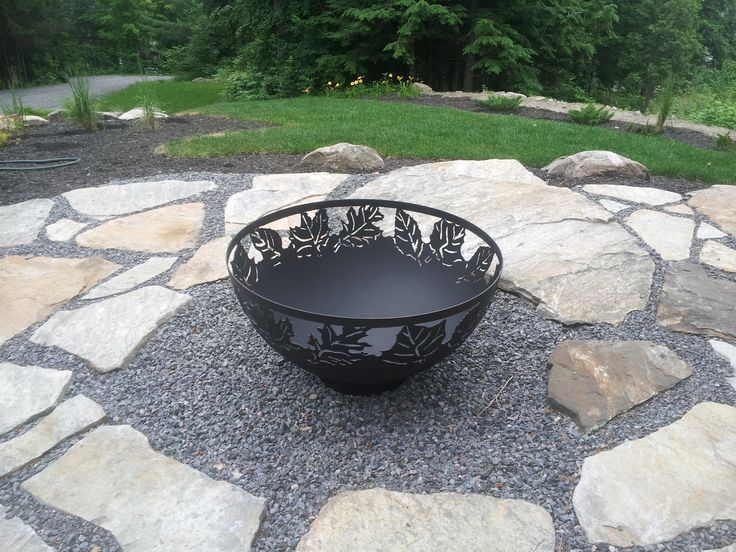 Gravel and stone treads make a great base for our firebowls, allowing you to move them off to the side when you want the space, but without the fire. Unlike a built in firepit