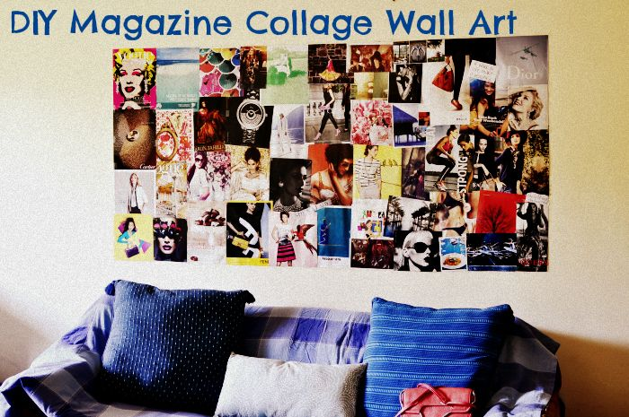 DIY Magazine Collage Wall Art - The Everyday and Beyond
