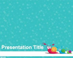Snail PowerPoint Template - Very cute template used to capture the attention of kids and kids at heart.
