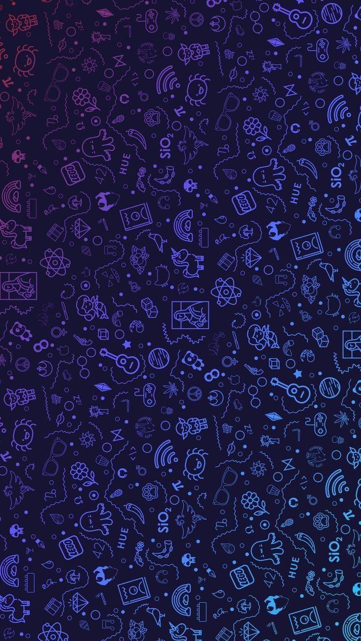 Fundo azul Whatsapp background em 2019 Papel de parede