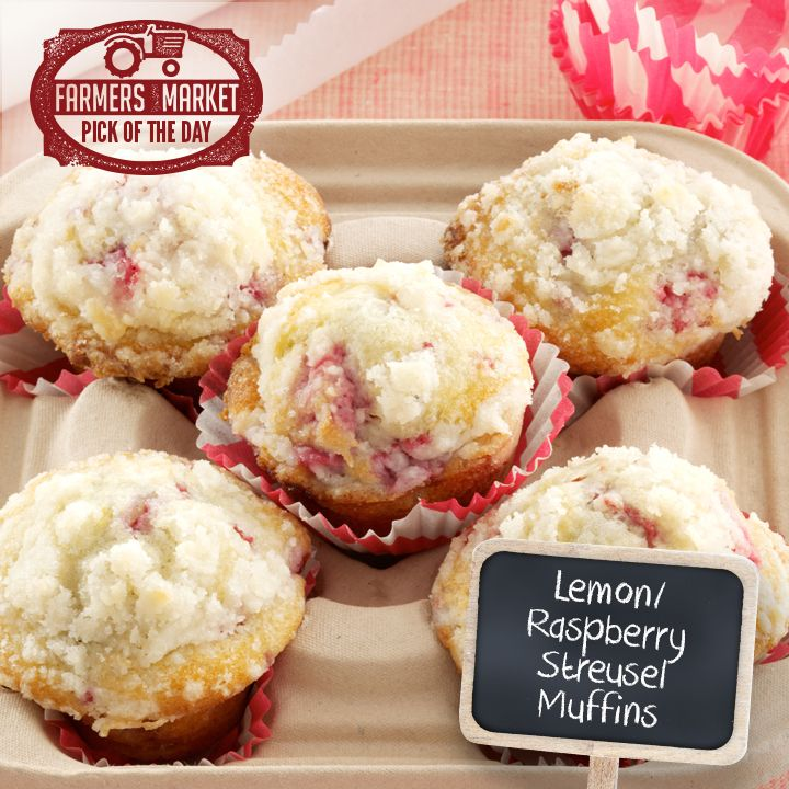 Lemon/Raspberry Streusel Muffins from Taste of Home