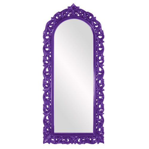 Orleans Glossy Royal Purple Arched Mirror